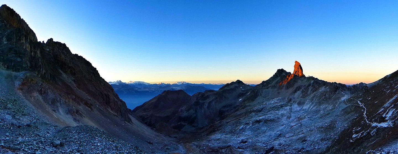 Sunrise on the Pierre Menta