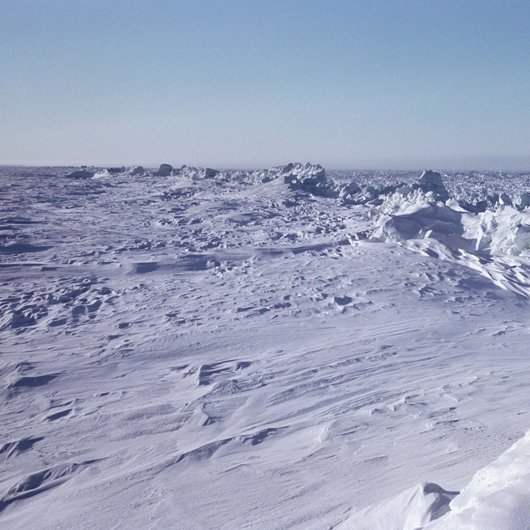 Pressure Ridge on the Arctic Ocean