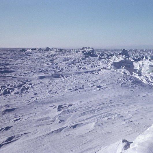 Pressure Ridge on the Arctic Ocean