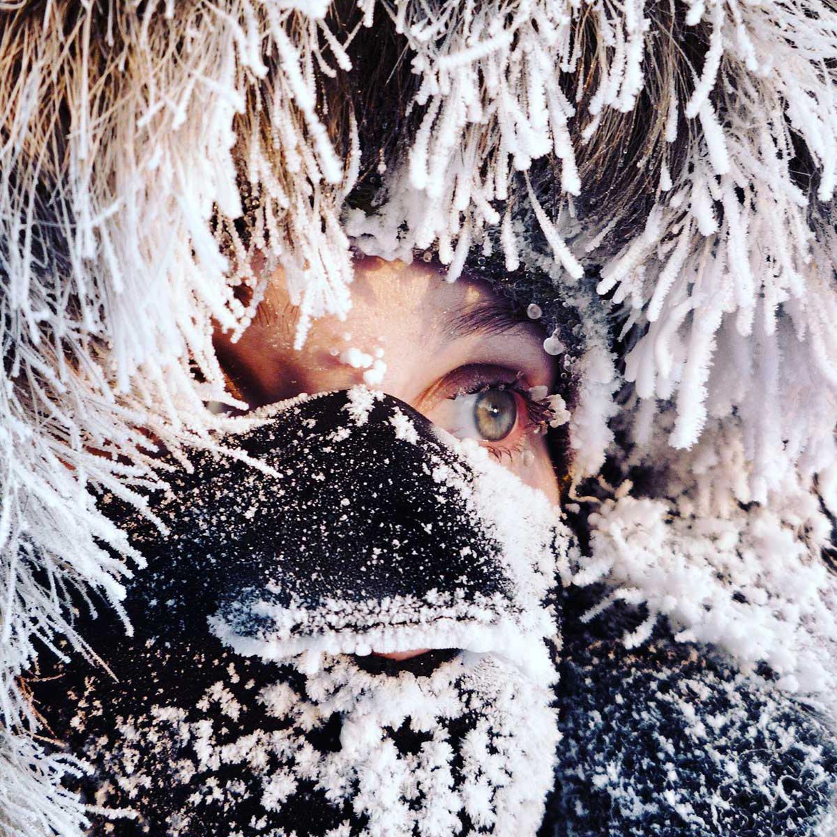 Frozen face on the Arctic Ocean