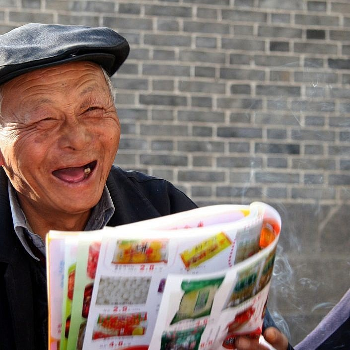 Friendly local Chinese man