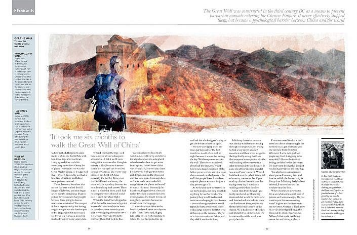 PrivatAir Magazine Article on Great Wall of China