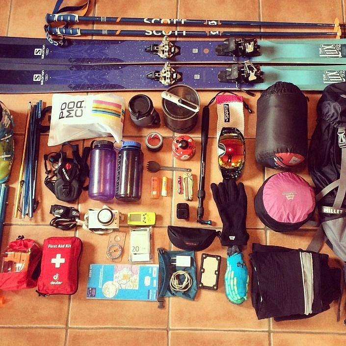 Ski touring kit