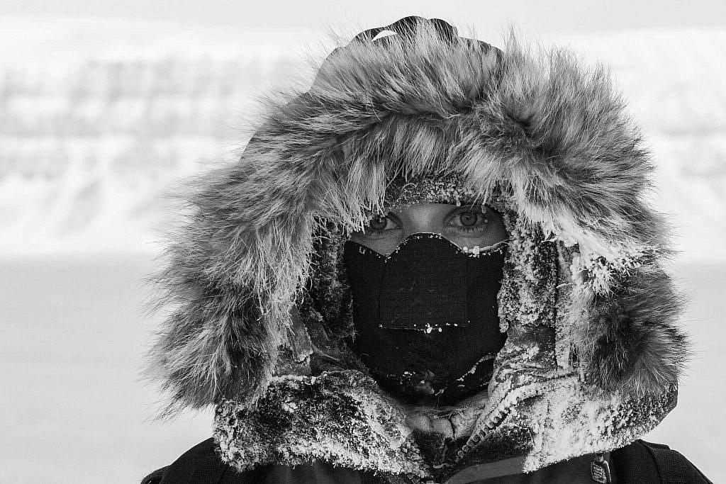 Katie-Jane L'Herpiniere in Svalbard