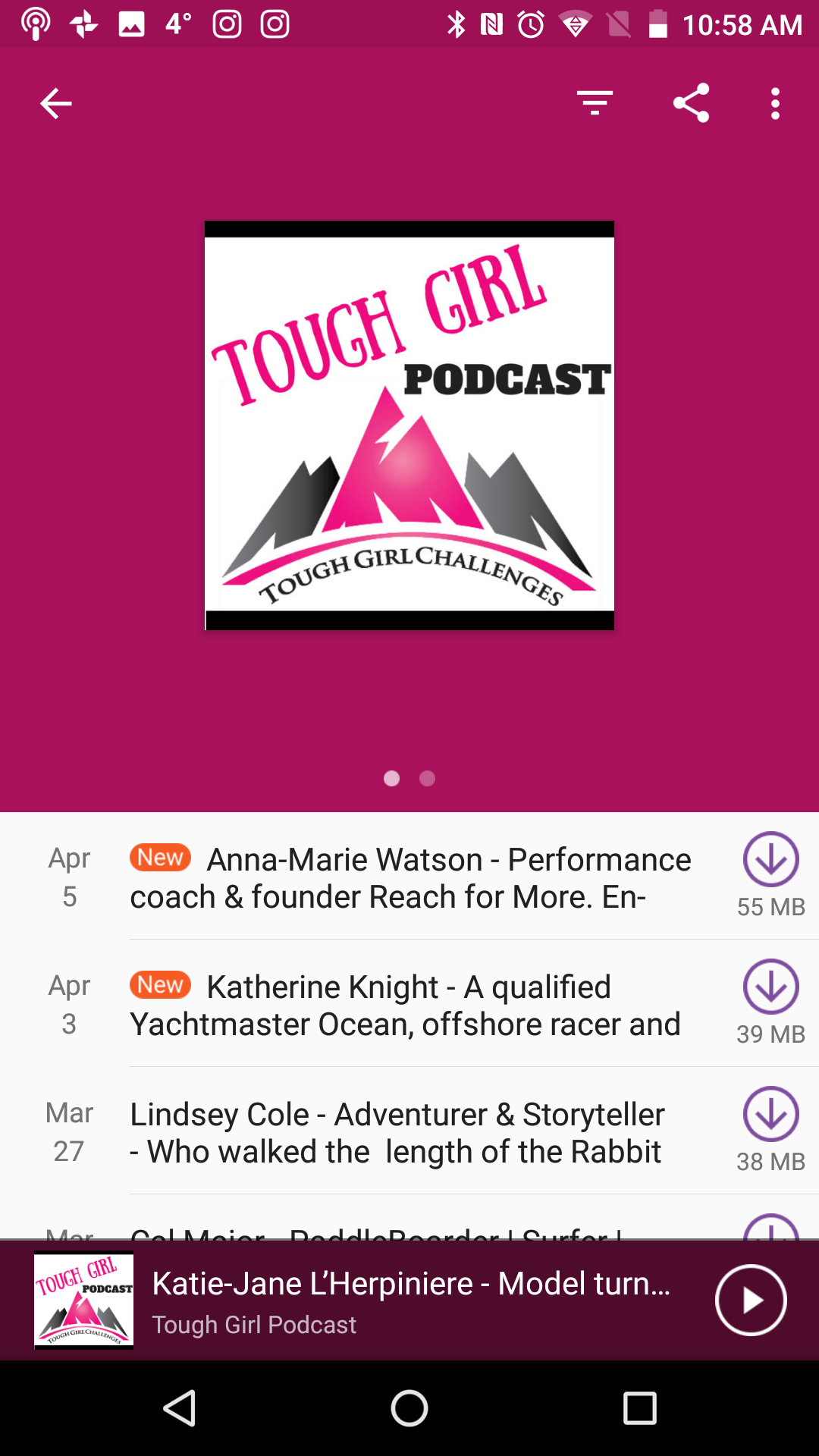 Tough Girl Podcast March 2018