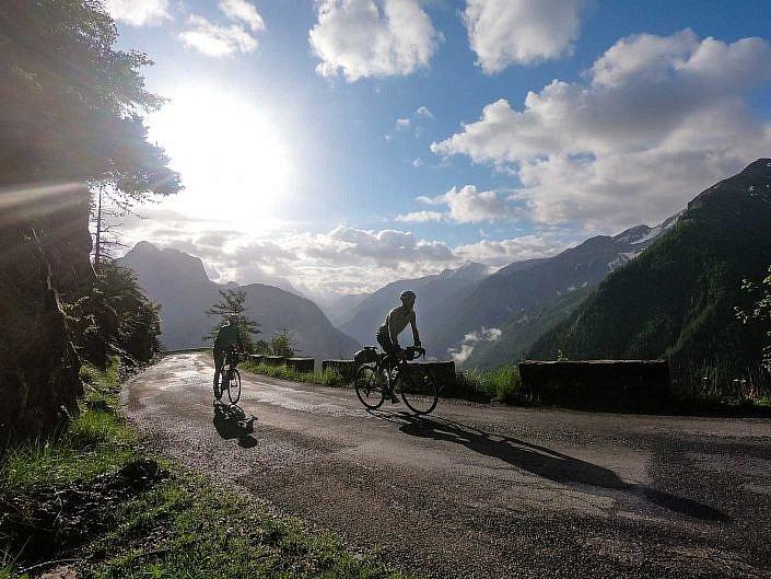 Climbing the Col d'Allos