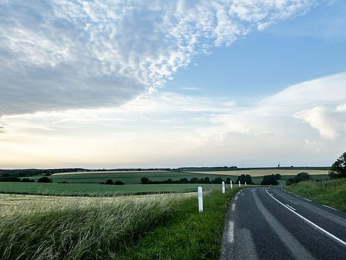 Rolling roads of Northern France