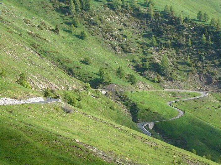 Climbing Col d'Allos (can you spot Katie?)