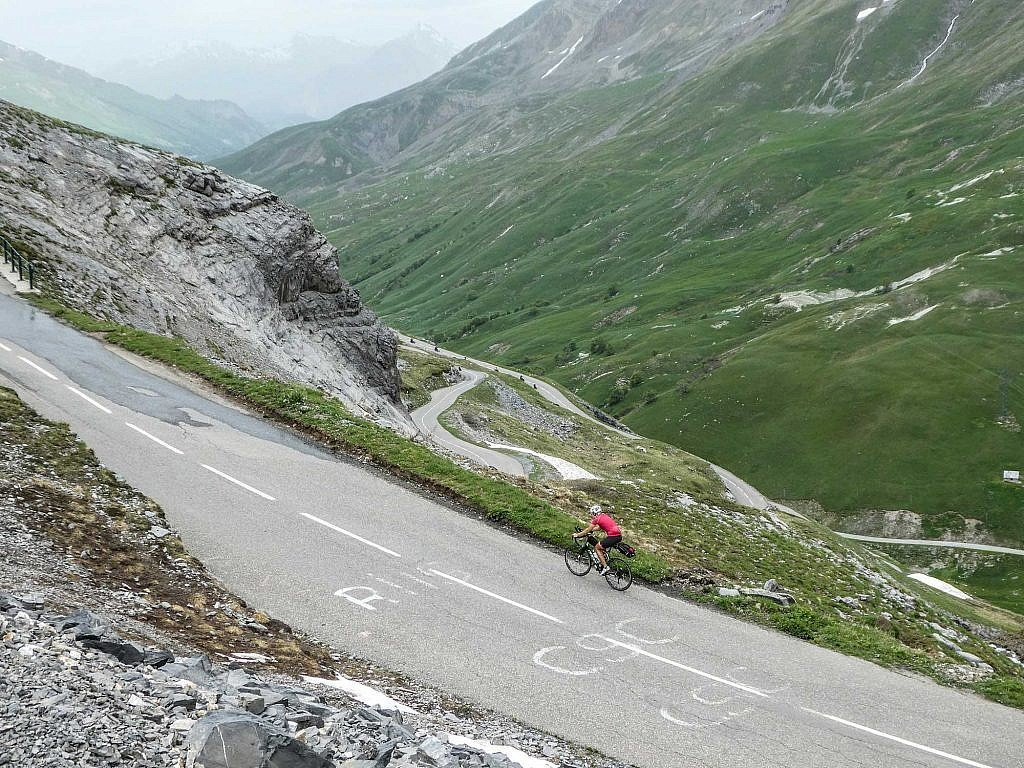 Climbing the Col du Galibier