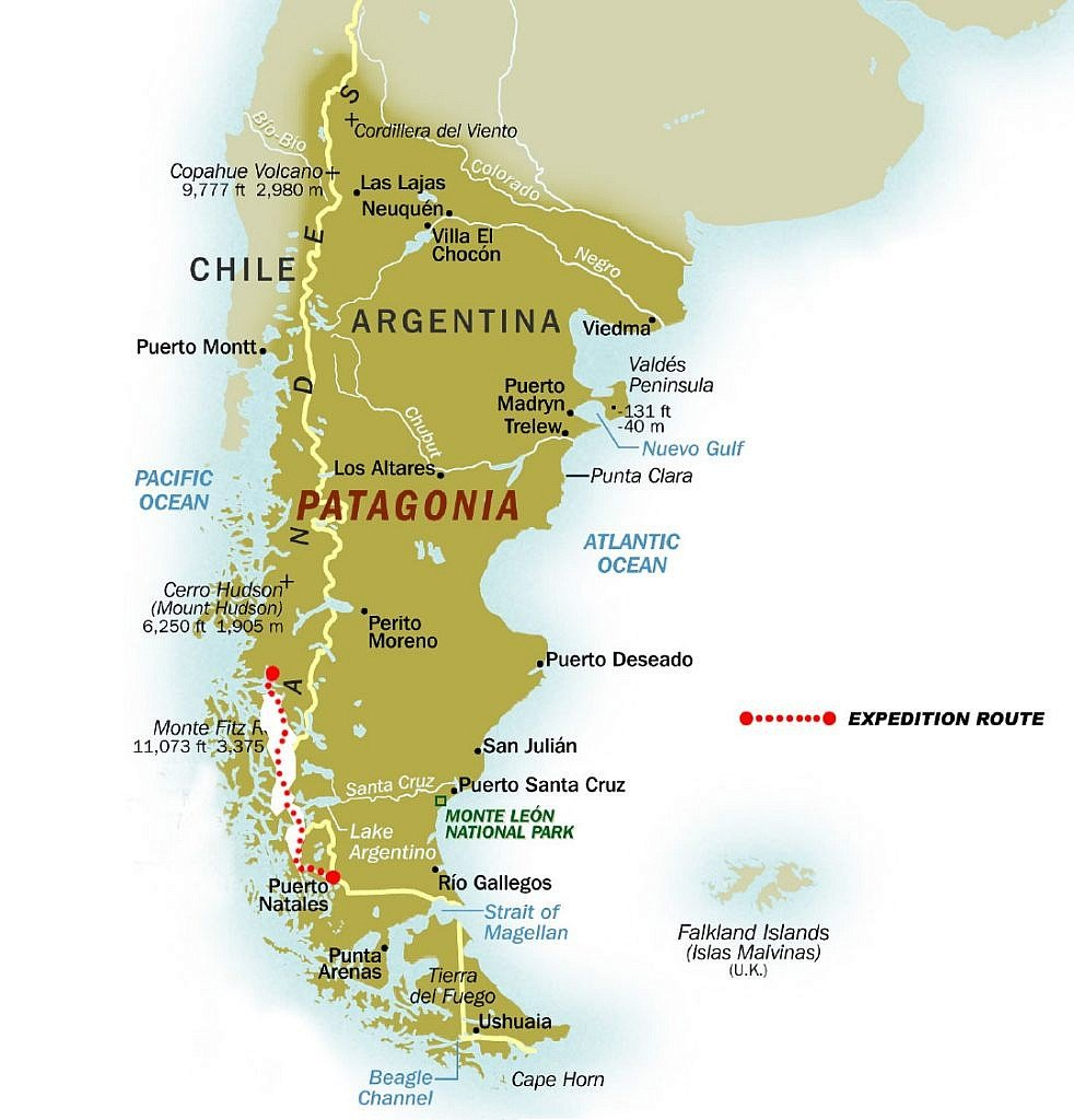 Patagonia Expedition Map