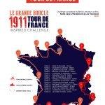 1911 Tour de France Route Map