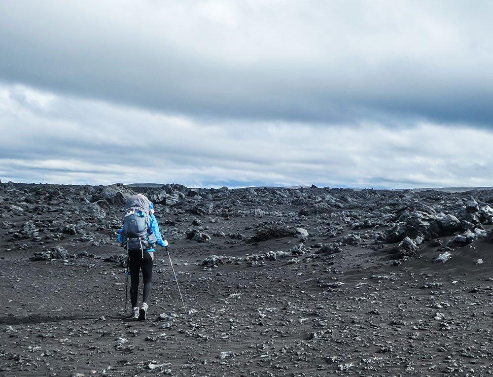 Hiking across Iceland