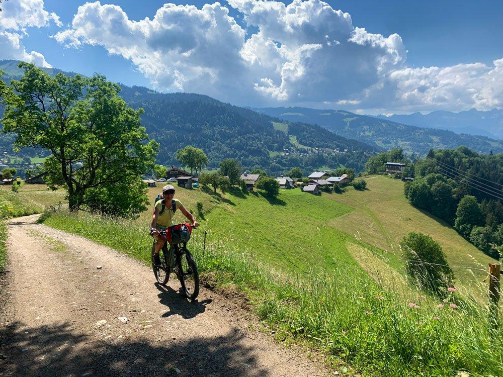 Girl cycling 4x4 tracks
