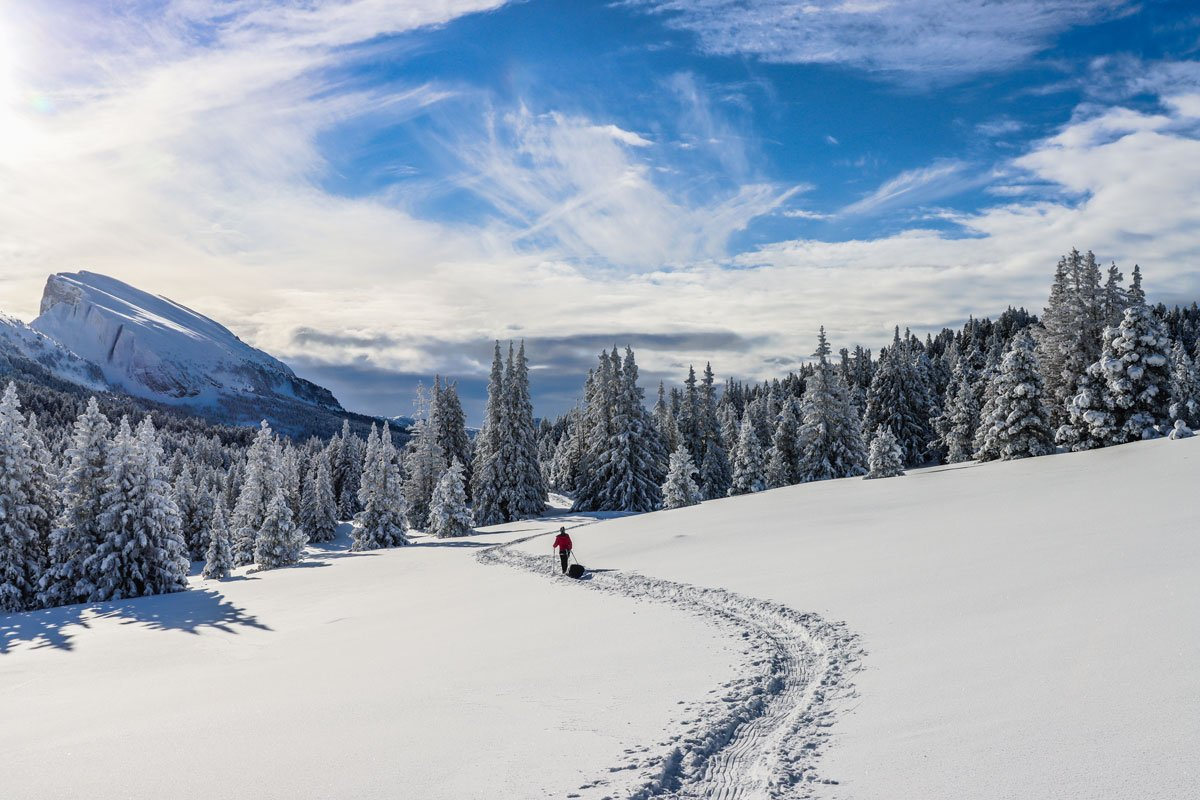 Snowshoeing in the Vercors