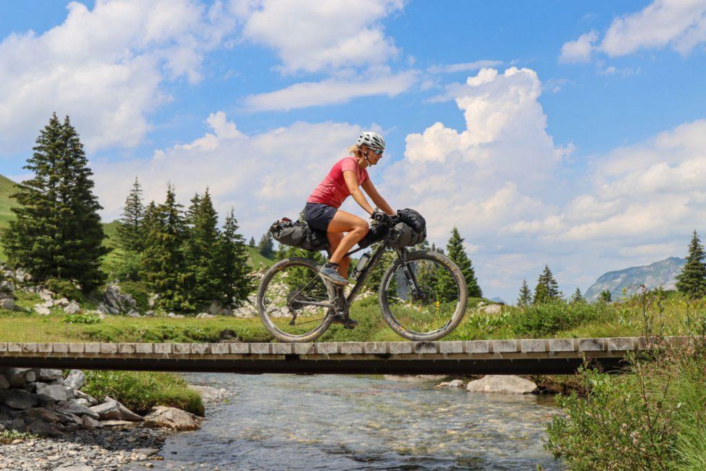 girl bikepacking
