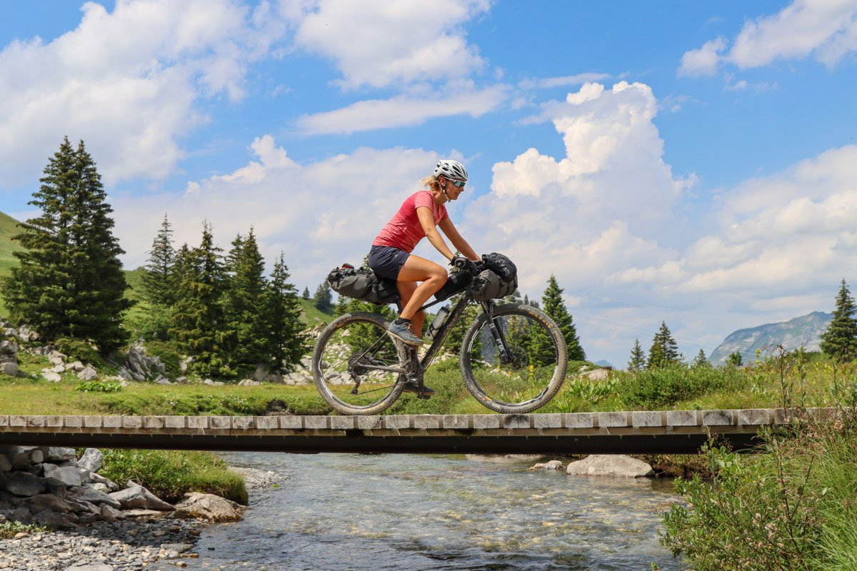 girl bikepacking